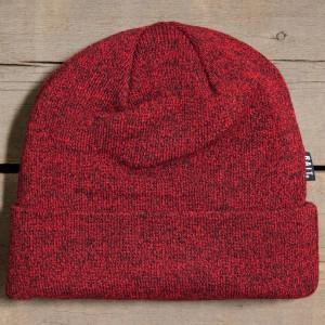 BAIT Folded Beanie (heather red / black)