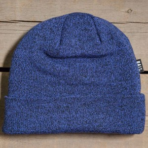 BAIT Folded Beanie (heather blue / black)