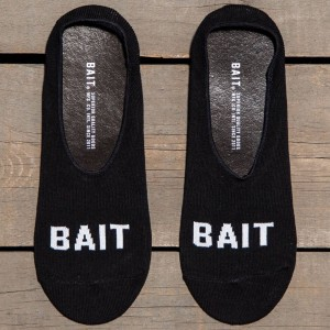 BAIT Logo Low Cut Invisible Socks (black) 1S
