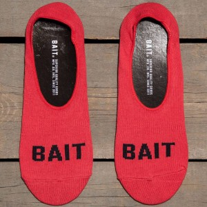 BAIT Logo Low Cut Invisible Socks (red) 1S