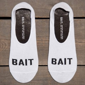 BAIT Logo Low Cut Invisible Socks (white) 1S