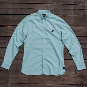 Barney Cools Men Excursion Long Sleeve Shirt (blue / ocean)
