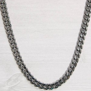 Veritas Aequitas Cuban White Gold Necklace (silver / white gold)