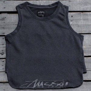 Stussy Women Buena Stock Tank Top (gray / charcoal)