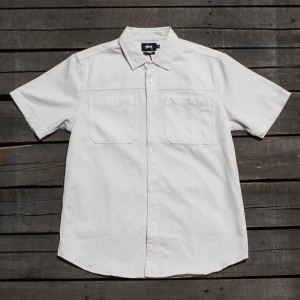 Stussy Men Big Pocket Denim Shirt (white / natural)