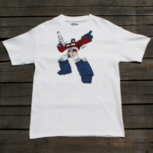 BAIT x Transformers Men Optimus Art Tee (white)