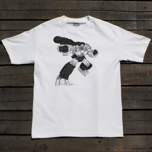 BAIT x Transformers Men Megatron Art Tee (white)