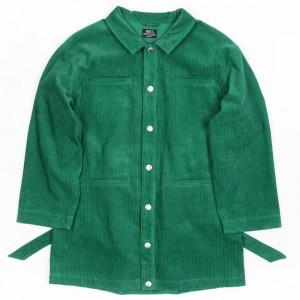 BAIT Unisex Corduroy Longline Jacket (green / kelly)