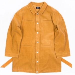 BAIT Unisex Corduroy Longline Jacket (brown / camel)