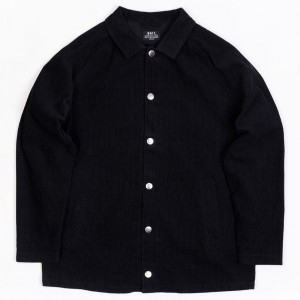 BAIT Unisex Corduroy Coaches Jacket (black)