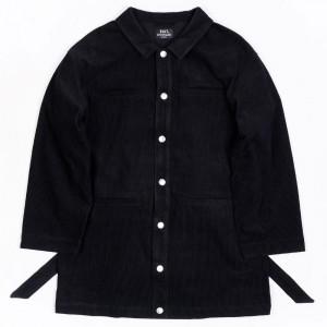 BAIT Unisex Corduroy Longline Jacket (black)