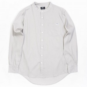 BAIT Men Mandarin Collar Button Up Shirt (khaki)