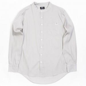BAIT Men Mandarin Collar Button Up Shirt (khaki)