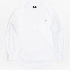 BAIT Men Mandarin Collar Button Up Shirt (white)