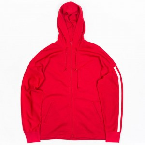 Adidas Y-3 Men 3-Stripes Hoody (red / chili pepper / undyed)