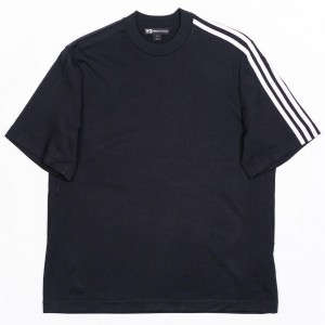 Adidas Y-3 Men 3-Stripes Tee (black / white)
