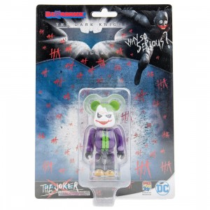 Medicom The Joker Laughing Version 100% Bearbrick Figure (purple / green)