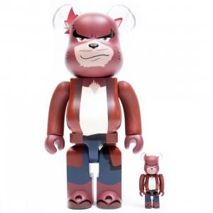 Medicom The Boy And The Beast Kumatetsu 100% 400% Bearbrick Figure Set (red)