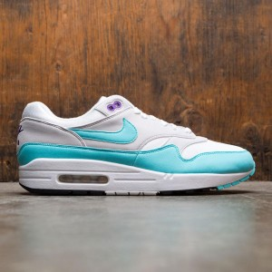 Nike Men Air Max 1 Anniversary (white / aqua-neutral grey-black)