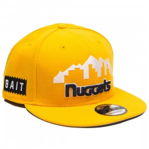 BAIT x NBA X New Era 9Fifty Denver Nuggets Alt A Gold Snapback Cap (gold)