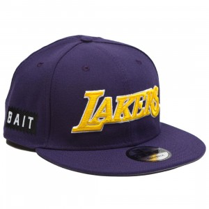 BAIT x NBA X New Era 9Fifty Los Angeles Lakers Alt OTC Snapback Cap (purple)