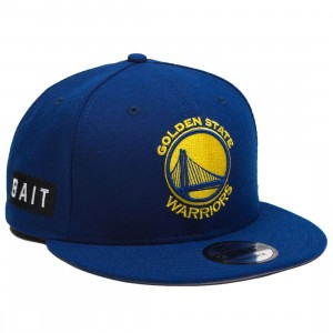 BAIT x NBA X New Era 9Fifty Golden State Warriors OTC Snapback Cap (blue)
