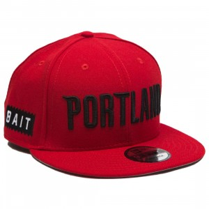 BAIT x NBA X New Era 9Fifty Portland Trail Blazers Alt OTC Snapback Cap (red)