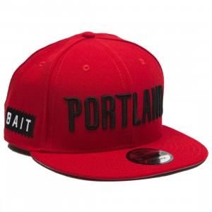 BAIT x NBA X New Era 9Fifty Portland Trail Blazers Alt OTC Snapback Cap (red)