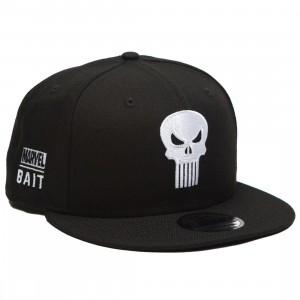 BAIT x Marvel x New Era 9Fifty Punisher Black Snapback Cap (black)