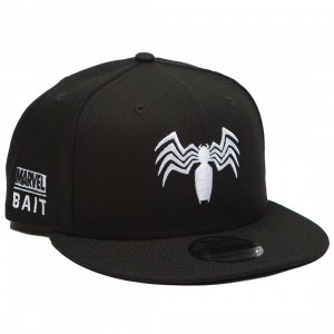 BAIT x Marvel x New Era 9Fifty Venom Logo Black Snapback Cap (black)