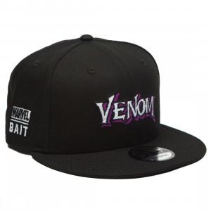 BAIT x Marvel x New Era 9Fifty Venom Wordmark Black Snapback Cap (black)
