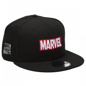 BAIT x Marvel x New Era 9Fifty Marvel Brick Black Snapback Cap (black)