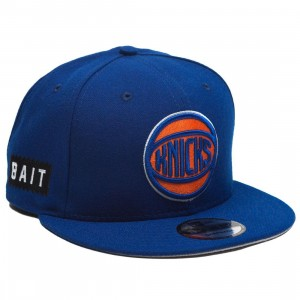 BAIT x NBA X New Era 9Fifty New York Knicks Alt Royal Snapback Cap (blue)