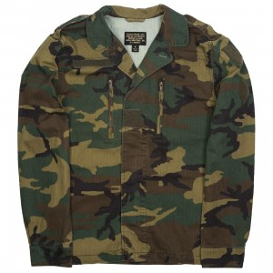 Alpha Industries Men F2 French Field Coat (camo / woodland camo)