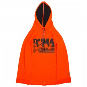Puma x Fenty By Rihanna Men Full Back Zip Hoody (red / orange)