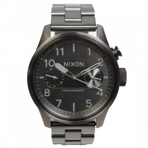 Nixon Safari Deluxe Watch (gray / gunmetal)