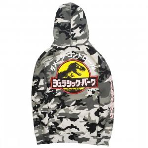 BAIT x Jurassic Park Men Damage Control Hoody (camo / snow camo)