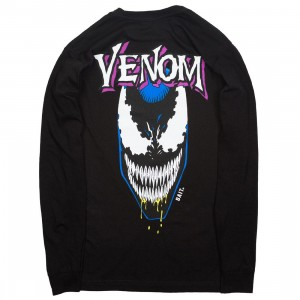 BAIT x Marvel Venom Men Grin Long Sleeve Tee (black)