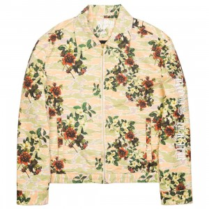 Billionaire Boys Club Men Rose Bloom Jacket (white / eggnog)