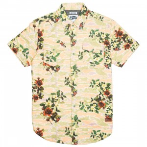 Billionaire Boys Club Men Garden Woven Shirt (white / eggnog)