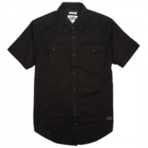Billionaire Boys Club Men Black Gardens Woven Shirt (black)