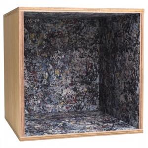 Medicom x Karimoku x SYNC x Jackson Pollock 2.0 Square Shelf (tan)