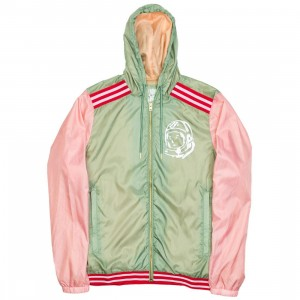 Billionaire Boys Club Men Beta Zip Hooded Jacket (green / pink)