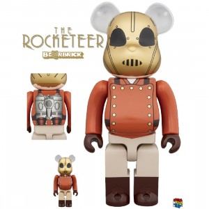 PREORDER - Medicom Rocketeer 100% 400% Bearbrick Figure Set (brown)