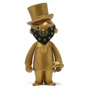 BAIT x Monopoly x Switch Collectibles Mr Pennybags 7 Inch Vinyl Figure - Gold Edition (gold)