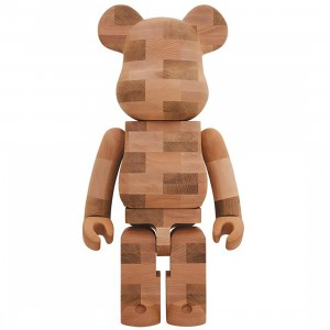 Medicom Karimoku Brick-Style Tiles 1000% Bearbrick Figure (brown)