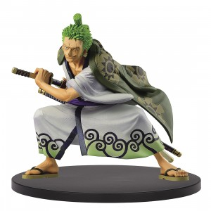 PREORDER - Banpresto One Piece King of Artist Wano Kuni Roronoa Zoro Figure (green)