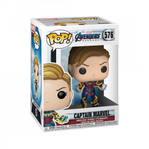 PREORDER - Funko POP Marvel Endgame Captain Marvel With New Hair (navy)