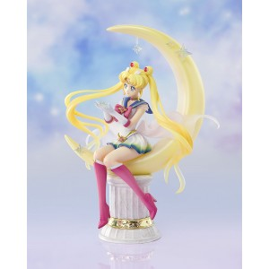 PREORDER - Bandai Figuarts Zero Chouette Pretty Guardian Sailor Moon Eternal The Movie Super Sailor Moon Bright Moon And Legendary Silver Crystal Figure (yellow)