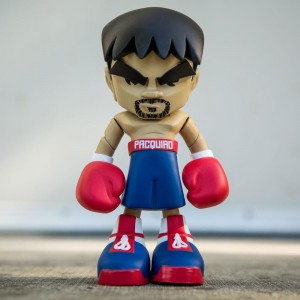 MINDstyle Collectormates Manny Pacquiao 7 inches Vinyl Figure - Fight of The Century (blue)